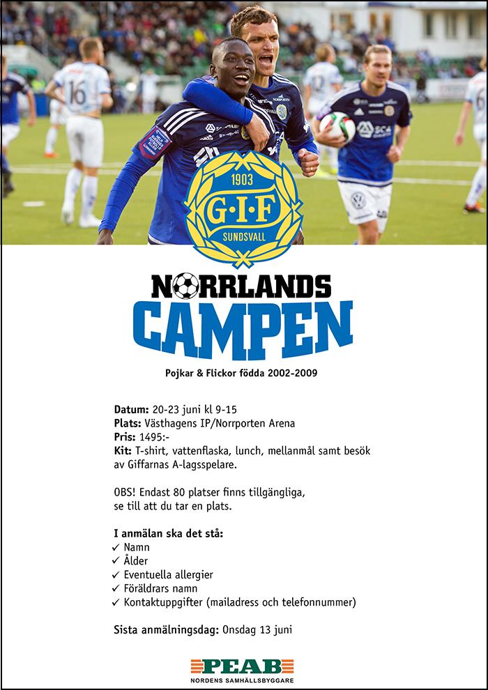 Anmäl er till Norrlandscampen!