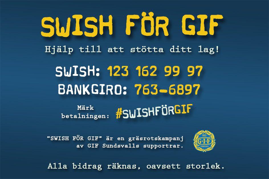 Swish för GIF – Våra supportrar har startat en Swishkampanj