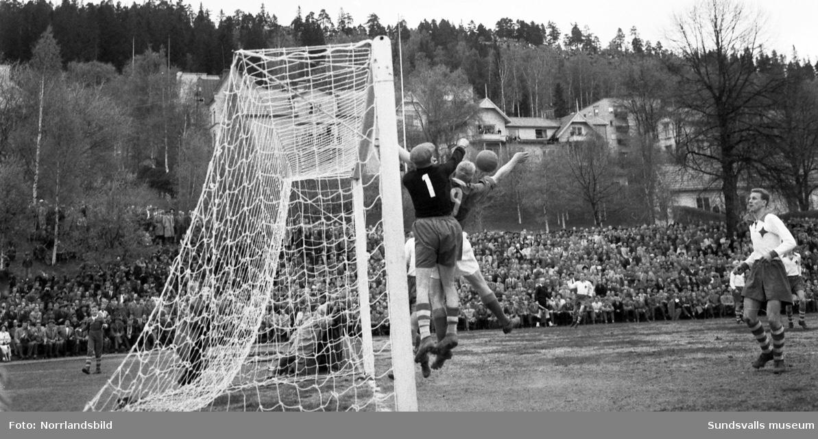 GIF spelar kval mot IFK Eskilstuna 1957 inför 11 000 personer på IP (1-1)