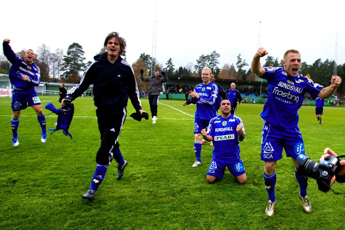 GIF-jubel efter avancemang i Ljungskile 2007