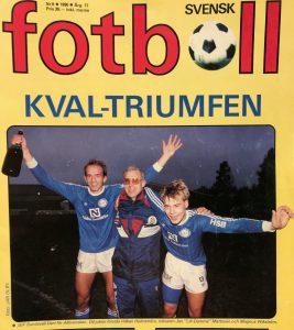 Tidningen Svensk fotboll om Giffarnas kvaltriumf 1990