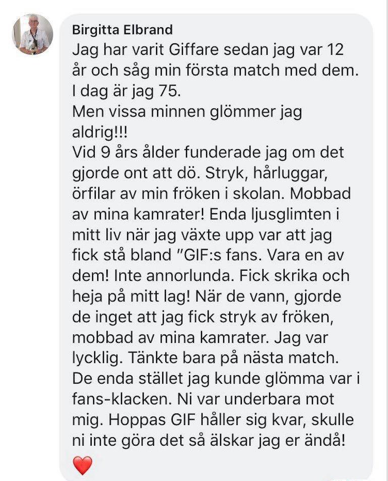 Birgitta får kärlek av fotbolls-Sverige