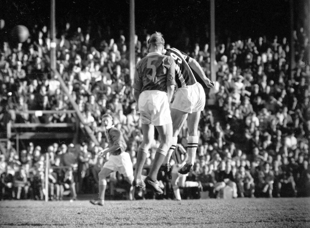 GIF Sundsvall mot Juventus i IP 1957.