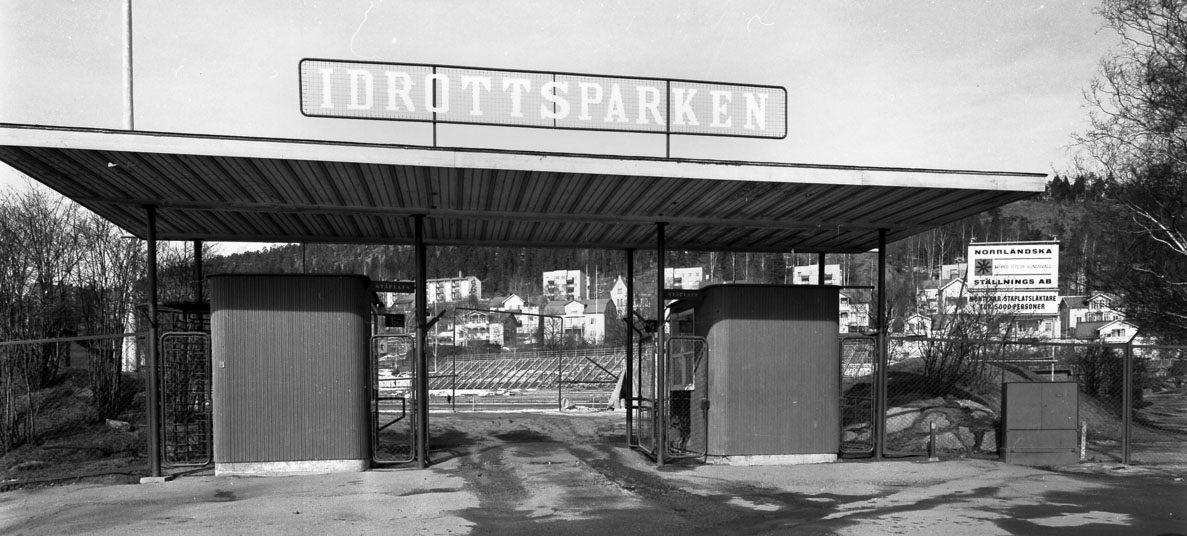 Idrottsparkens entré 1965.